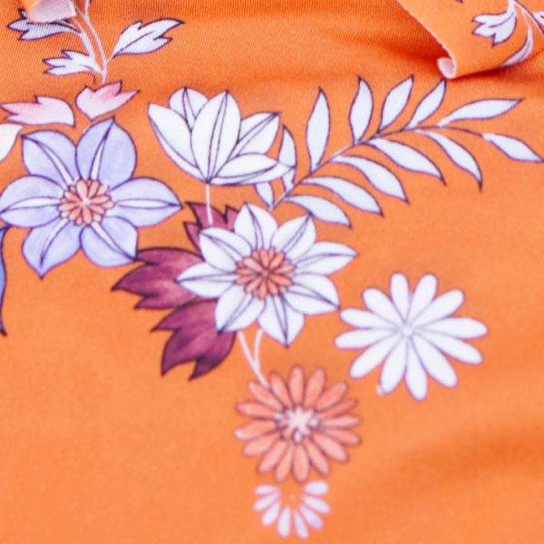 Close up on digital printing of Sunseeker desert bloom bikini