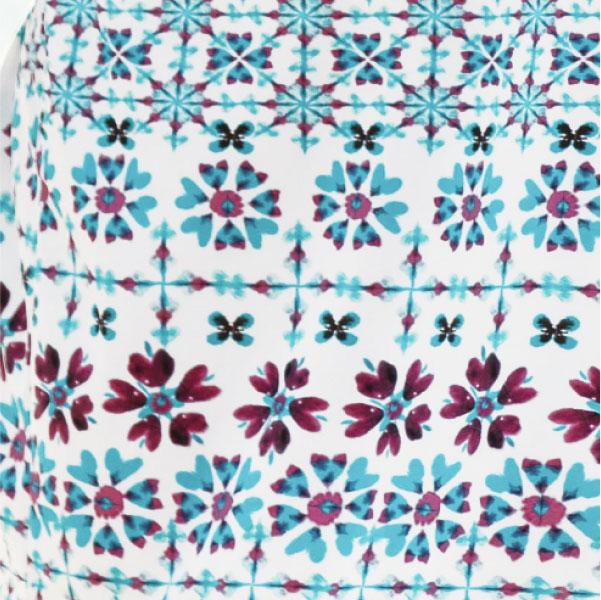 Close up on digital printing of Sunseeker shibori star bikini